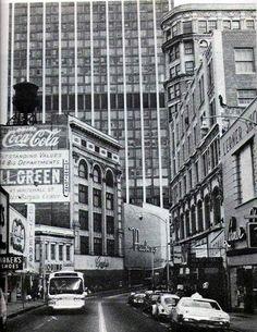 Peachtree street. Downtown Atlanta circa 1970.