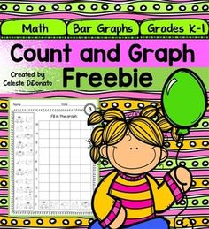 """FREE!! This count and graph freebie is perfect for young students learning to count to ten. It has three graphs with five questions about each graph. Students are asked to count the picture images and then fill in the graph based on the data. ......Follow for Free """"too-neat-not-to-keep"""" teaching tools & other fun stuff :)"""