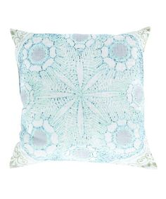 Another great find on #zulily! Aqua Shell Blot Throw Pillow #zulilyfinds