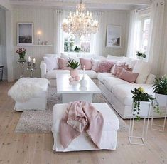 50 Stunning Romantic Living Room Decor 50 atemberaubende romantische Wohnzimmer Dekor Meg & Abee's Future Home (Visited 1 times, 1 visits today) Romantic Living Room, Cute Living Room, Living Room Decor Cozy, Romantic Home Decor, Shabby Chic Living Room, Bedroom Decor, Pink Living Rooms, Blush Pink Living Room, Romantic Room Decoration