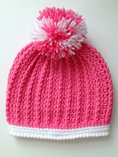 Ribbed hat--toddler