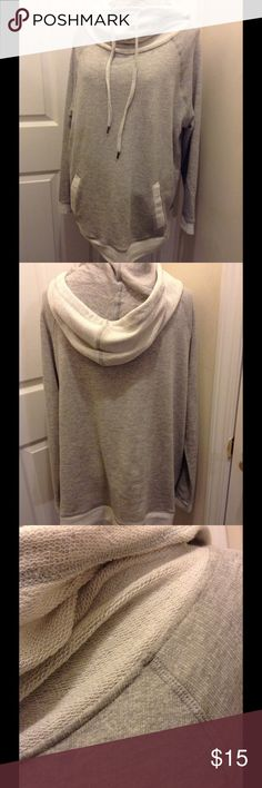 "✨Derek Heart Plus Cowl Sweater✨NWOT ✨Gray Cowl Neck Sweater✨Front Pocket✨Approx 24"" measured armpit to armpit ✨ Derek Heart Sweaters Cowl & Turtlenecks"