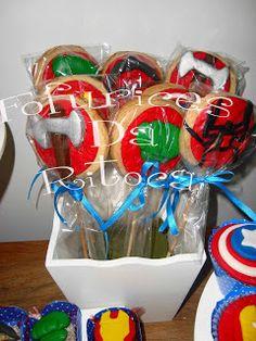Fofurices da Ritoca: Cookies vingadores!