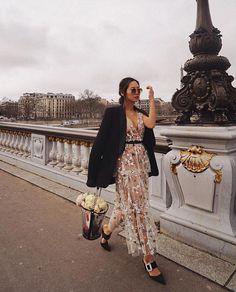 "d456f61400dd SELF-PORTRAIT on Instagram: ""Killing it as usual! @songofstyle in STAR MESH  MIDI DRESS during Paris Fashion Week #PFW"""