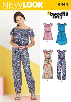 #Simplicity #pattern 6444 has your tweens sorted! This girls' easy to sew dress…