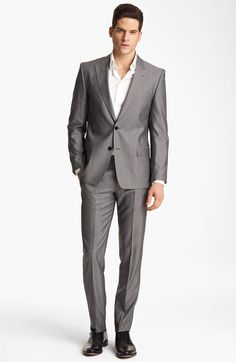 Versace Versace Trim Fit Stripe Suit in Gray for Men (grey tonal stripe) - Lyst