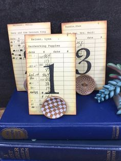 Button Table Number Holder OR Place Card Holder Card Wooden Button Holder Rustic Wedding Decor Rustic Wedding, Vintage Wedding Favors, Barn Wedding Photos, Wedding Table Number Holders, Wedding Table Numbers, Country Barn Weddings, Glass Door Knobs, Library Card, Wedding Places