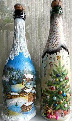 17 En Iyi şişe Boyama Görüntüsü Bottle Crafts Glass Bottles Ve