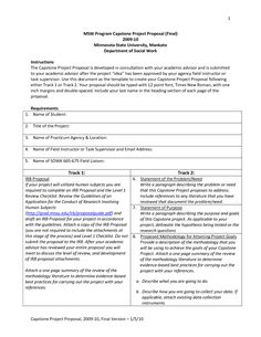 Project Proposal Template Templates