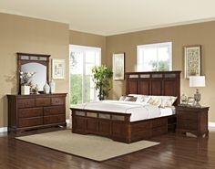 Madera queen bedroom set with storage in Houston