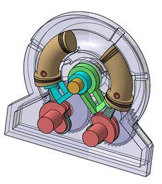 engine mechanical hybrid piston