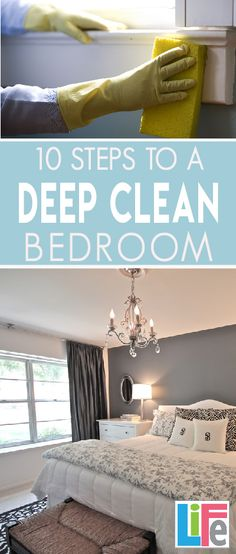 Sure, you make your bed and put away the laundry, but have you ever really deep cleaned your bedroom? My bedroom is always the last room in the house to get cleaned. Why? Because nobody goes in there. It becomes the dumping ground for everything I want to be out of sight when