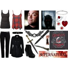 """SPN Crowley Girl"" by lexaphoenix on Polyvore Supernatural"