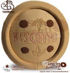 Cuscino Biscotto - Biscottoso (Fatto a mano in Italia)