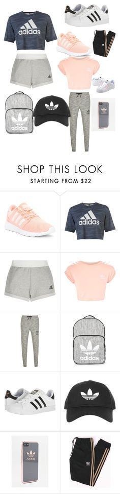"""Adidas looks"" by taliiiiaaaaaaaa ❤ liked on Polyvore featuring adidas, Topshop and adidas Originals"