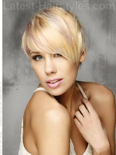 Sculpted Blonde Straight Pixie