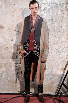 Menswear trend: Robes as ready-to-wear. Seen here at Haider Ackermann.