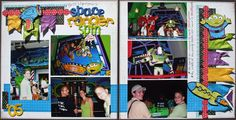 love this Buzz Lightyear layout- going to have to do this for our Disneyland album