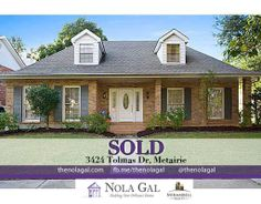 SOLD! $332,500 - 4bed/3bath Single Family Home - Greater New Orleans Real Estate - http://www.thenolagal.com