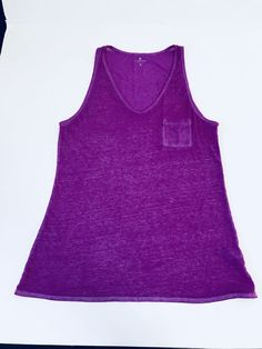 18082b3b158ec ATHLETA Womens Sz M Purple Tank Knit Top Sleeveless Striped Cotton Blend