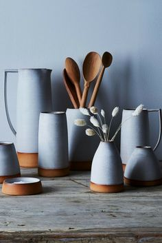 Handthrown Ceramic Dipped Pitchers