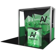 """114.13""""w x 94.5""""h x 33.25""""d aluminum extrusion frame 5 x push-fit fabric graphic panels 4 x rigid graphic accents 1 x Velcro sheer fabric panel 3 x OCH2 cases"""