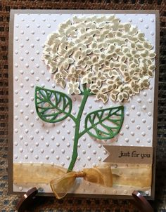 "8-16 ""Just for you""  Earthy tones with glitter, embossing, wink and gossamer ribbon"