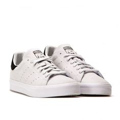 best loved dc92b 6df3f Adidas Stan Smith Vulc Sneakers Vintage White Sueded Leather M 7 W 8.5 NWOB  Adidas