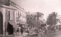 Plaza del Mar. A la izquierda el Hotel Iborra Año: 1893 - Archivo Ayuntamiento.Colección: FRANCISCO RAMOS MARTÍN