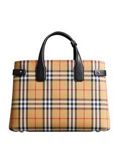 Burberry Vintage Check Medium Banner Tote Bag Burberry Handbags 932b8db806ca0