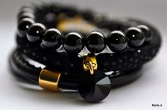 Diy#handmade#bracelet#diy#idea#black