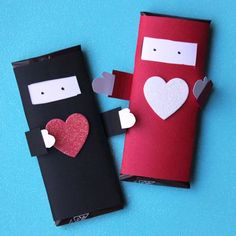 Ninja Chocolate Bar Valentines - Robert would love to hand these out!