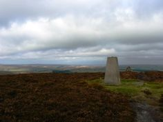 The trig point on Bolt's Law in the North Pennines.