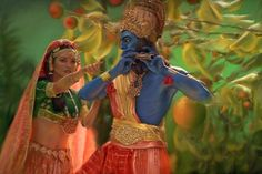 Krishna and Radha from the Little Princess, one of my favorite childhood movies