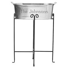 Personal Creations – Personalized Gifts Entertainment Beverage Tub – Any Message w/Stand