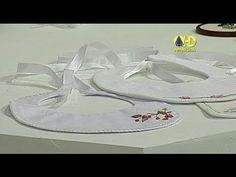 Sabor de Vida Artesanatos   Babador Bordado por Rosana Pardo - 25 de Maio de 2014 - YouTube