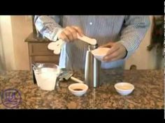 This tutorial will show you how to make homemade whipped cream using a whipped cream dispenser. Sweet Whipped Cream, Making Whipped Cream, Homemade Whipped Cream, Recipes With Whipping Cream, Cream Recipes, Whipped Cream Dispenser Recipe, Food Videos, Recipe Videos, How To Make Homemade