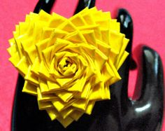 duct tape flowers instructions | Duck Tape Ring Cocktail Valentine Duct Tape Heart Rose Mum Flower Your ...