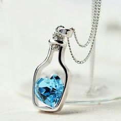 """Sale Blue Bottle Adjustable Necklace New Brand New Bundle & save up to 20 % discounts or more No PayPal No Trade Hypoallergenic Nickel Free Great for Sensitive  Adjustable Chain 16"""" to 22"""" zdazzled Jewelry Necklaces"""