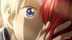 """Akagami no shirayuki hime """" Snow White with the red hair """" ep 11 Zen kissing Shirayuki >< ♡ So kawaii"""