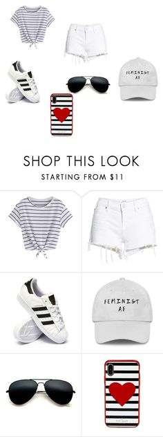 """""""Coachella Day 2"""" by princessladybug07 on Polyvore featuring Hudson Jeans, adidas and Kate Spade"""