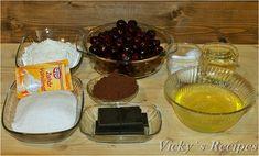 Prăjitură zebră din albușuri cu vișine și ciocolată – Vicky's Recipes