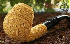 Lovely Meerschaum Smoking Pipes for Women signed by world's famous meerschaum sculpture artisans.