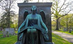 """The Recording Angel"" sculpture by Lorado Taft in Waupun Wisconsin"