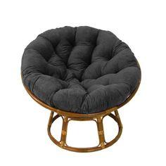 Beachcrest Home Decker Rattan Papasan Chair Upholstery: Indigo - Años - Combin Papasan Cushion, Papasan Chair, Cushion Fabric, Chair Fabric, Chair Upholstery, Tufted Accent Chair, Accent Chairs, Accent Pillows, Unique Furniture