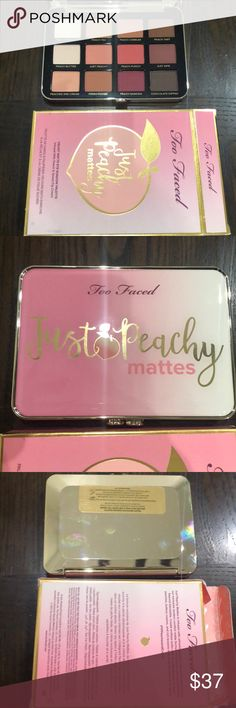 Too Faced Just Peachy Martes Palette New Palette 💯 Authentic Too Faced Makeup Eyeshadow