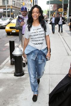 We get it Rihanna, you don't need makeup or fitted denim to look amazing.