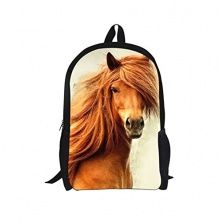 Yonger Animal Horse School Backpack Rucksack, Schoolbag Satchel bolsas mochilas Teens