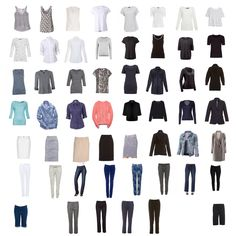 66 Item Challenge: the separates. Living with only 66 items in my wardrobe for 2015.  Items can be replaced, or tops switched for bottoms etc, but it has to stay at 66 items in total.