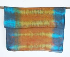 hand painted silk scarf screen printed hand dyed by 88editions